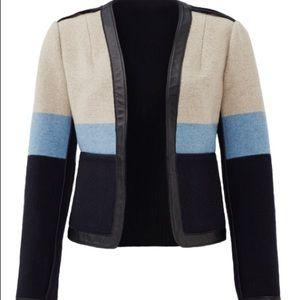 Tory Burch Stripe Blanket Jacket